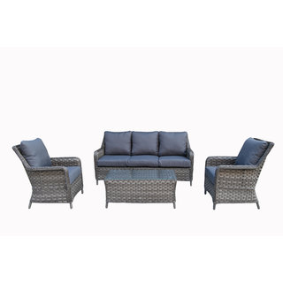 Victoria Five Seater Sofa Set - Grey