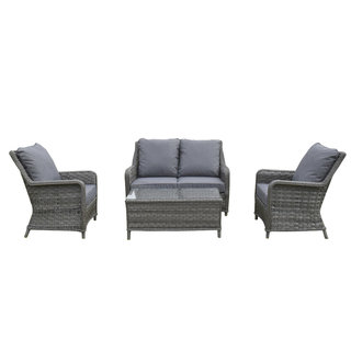 Victoria Four Seater Sofa Set - Grey