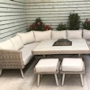 Alexandra U Shape Ten Seat Sofa Dining Set With Fire/Drinks Pit/