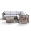 Colette Compact Corner Sofa With Coffee Table - Grey/