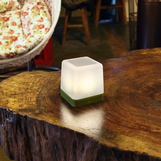 Table Cube Portable Solar Light - Green