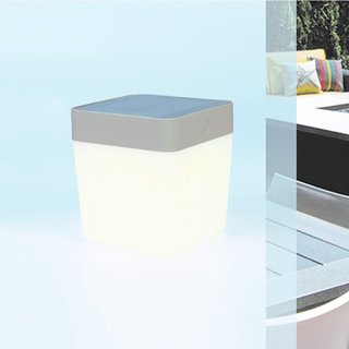Table Cube Portable Solar Light - Grey