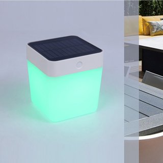 Table Cube Portable Solar Light With Colour Changing LED