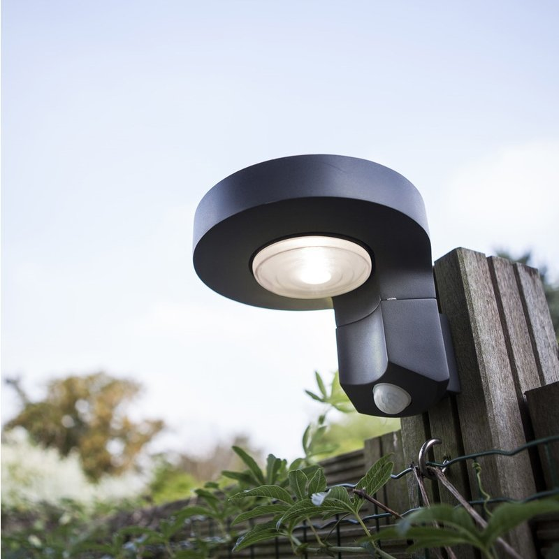 Diso LED Solar Wall Light With PIR/
