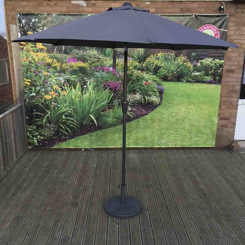3m Table Parasol With Tilt - Grey/