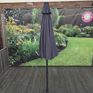 3m Table Parasol With Tilt - Grey