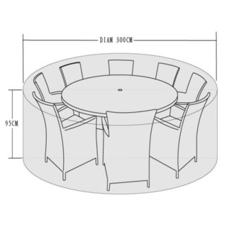 300cm Diameter Cover for 8-10 Seater Dining Set