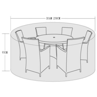 250cm Diameter Cover for 4-6 Seater Dining Sets