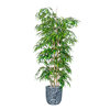 7ft Artificial Bamboo Mini Leaf Tree - Fire Retardant/