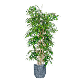 7ft Artificial Bamboo Mini Leaf Tree - Fire Retardant