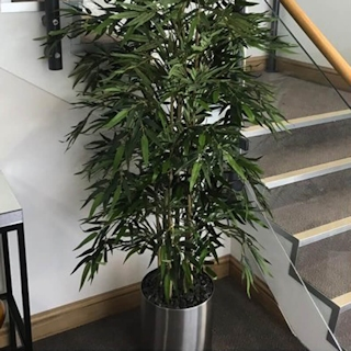 5ft Artificial Bamboo Mini Leaf Tree - Fire Retardant