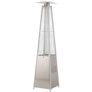 Tahiti Flame Patio Heater - Stainless Steel