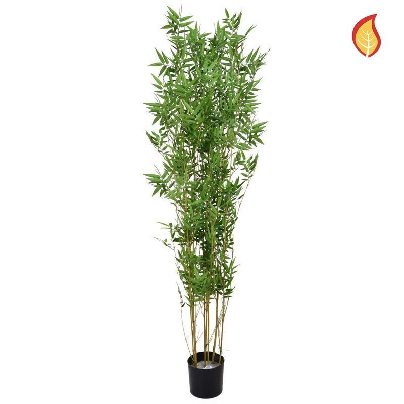 Artificial Oriental Bamboo 120cm with Natural Tree Trunk (Fire Retardant)/
