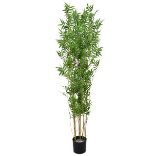 Artificial Oriental Bamboo 150cm with Natural Tree Trunk (Fire Retardant)