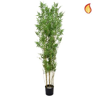 Artificial Oriental Bamboo 180cm with Natural Tree Trunk (Fire Retardant)
