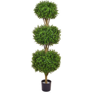 Artificial Topiary New Buxus Triple Ball 120cm