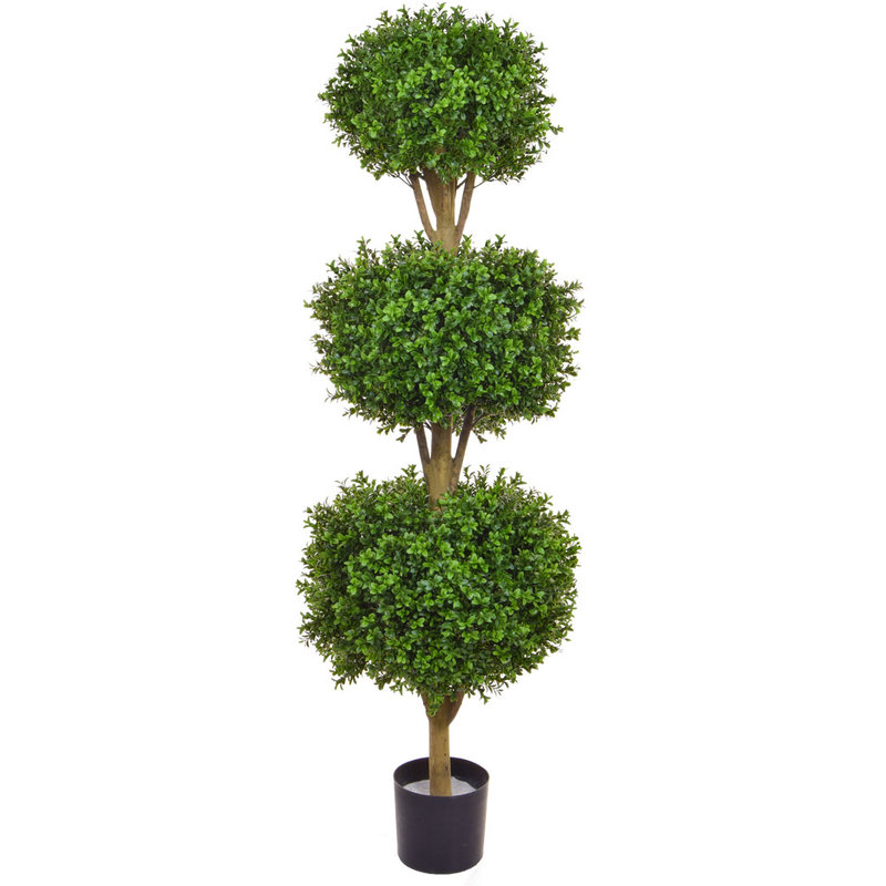 Artificial Topiary New Buxus Triple Ball 120cm/