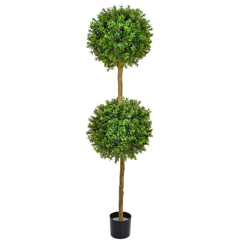 Artificial Topiary New Buxus Double Ball Tree 150cm/