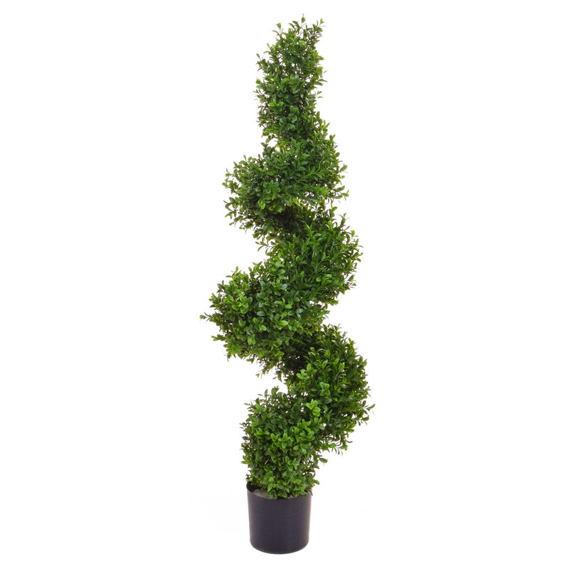 Artificial Topiary New Buxus Spiral 90cm/