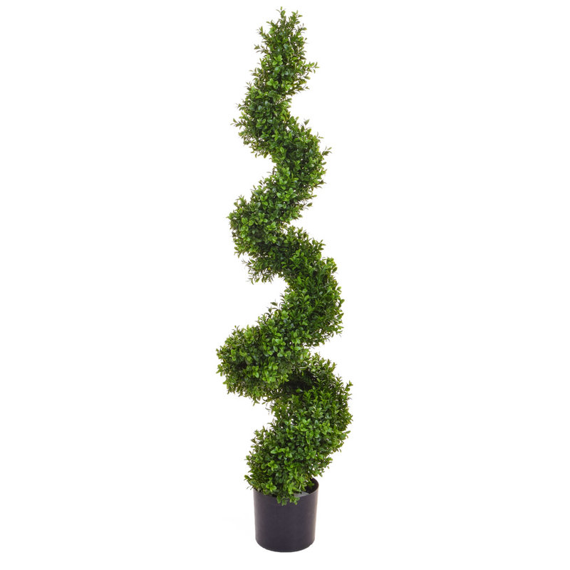 Artificial Topiary New Buxus Spiral 120cm/