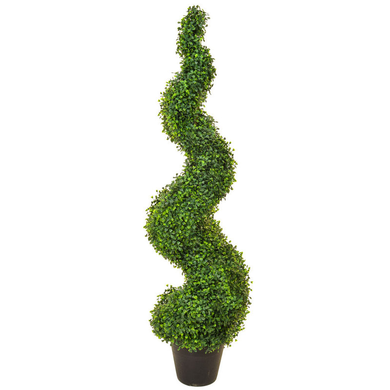 Artificial Topiary N-Boxwood Spiral 120cm/