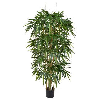 Artificial Bamboo Natural 210cm with Natural Tree Trunk (Fire Retardant)