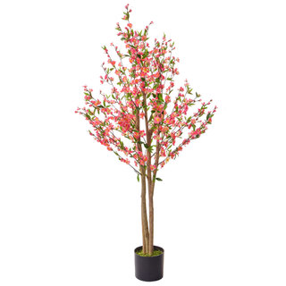 Artificial Cherry Blossom Pink 150cm with Natural Tree Trunk