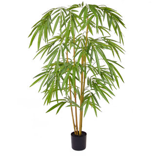 Artificial Bamboo 120cm with Natural Tree Trunk (Fire Retardant)