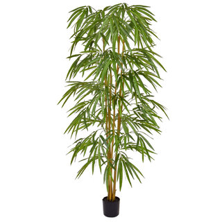 Artificial Bamboo 150cm with Natural Tree Trunk (Fire Retardant)