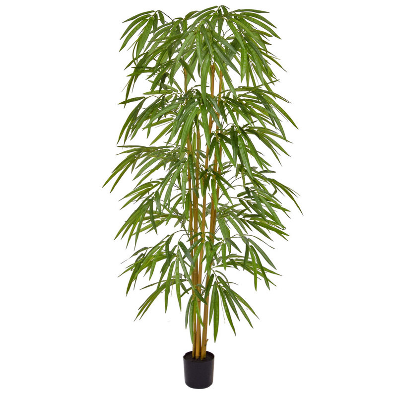 Artificial Bamboo 150cm with Natural Tree Trunk (Fire Retardant)/