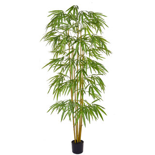 Artificial Bamboo 180cm with Natural Tree Trunk (Fire Retardant)