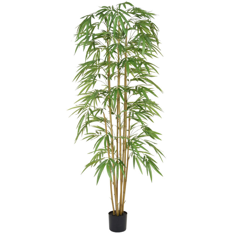 Artificial Bamboo 210cm with Natural Tree Trunk (Fire Retardant)/