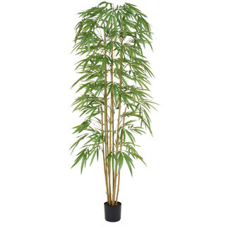 Artificial Bamboo 240cm with Natural Tree Trunk (Fire Retardant)