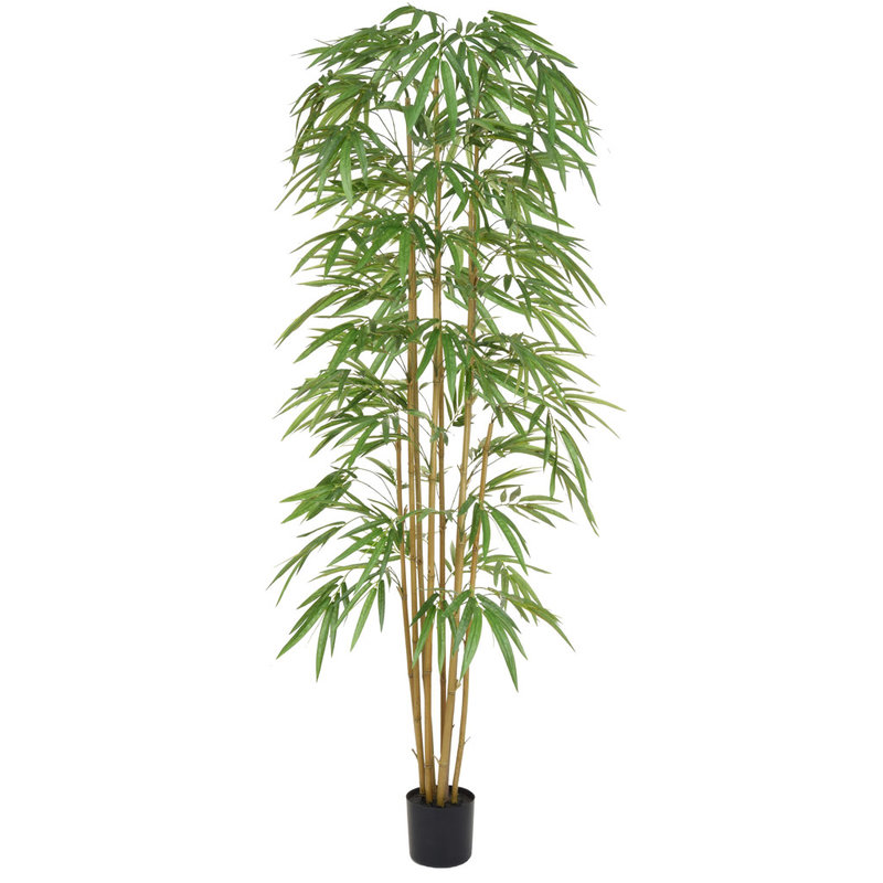 Artificial Bamboo 240cm with Natural Tree Trunk (Fire Retardant)/