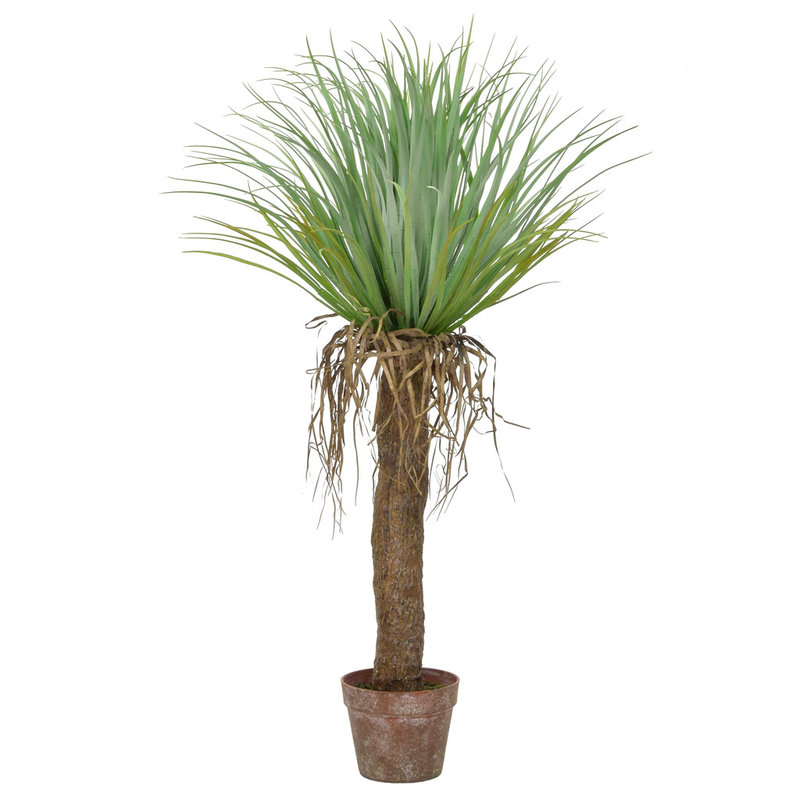 Artificial Cycas Palm in Brown Pot 95cm/