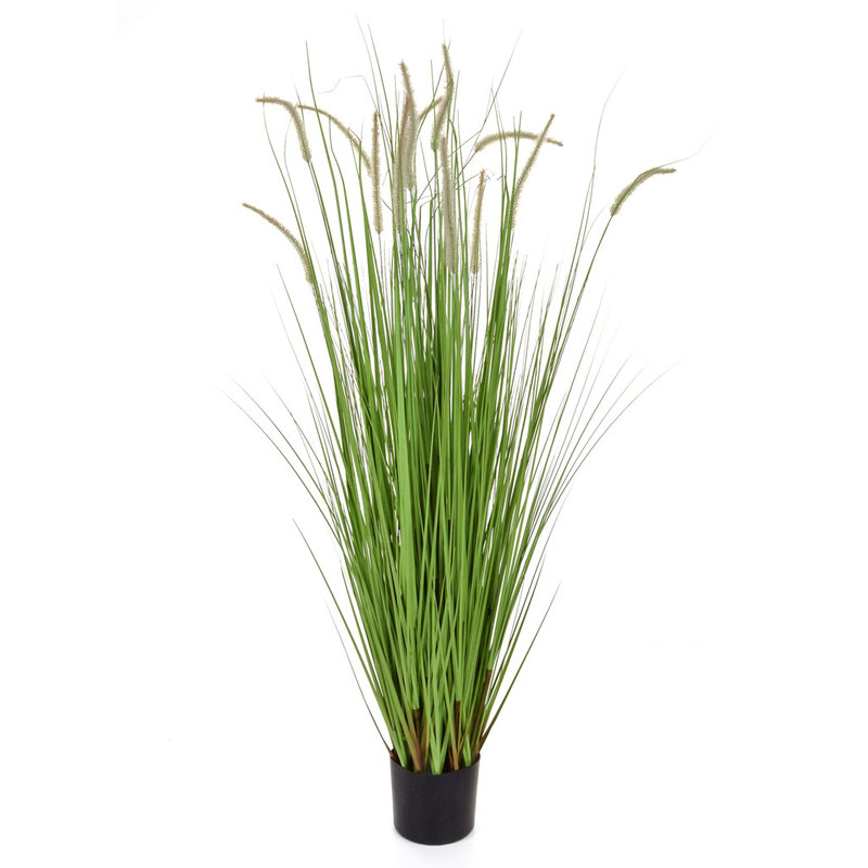 Artificial Dogtail Grass 180cm with Pot (Fire Retardant)/
