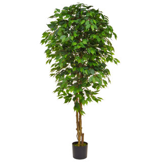 Artificial Ficus Contract Green 180cm with Natural Tree Trunk