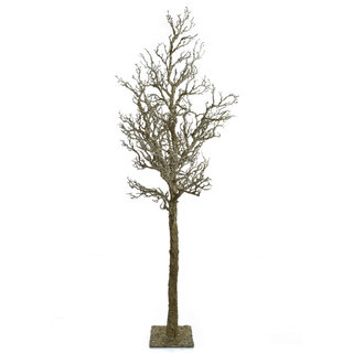 Artificial Foliage Wood Brown Branch (with base) 193cm