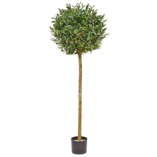 Artificial Olive Ball Tree 150cm with Natural Tree Trunk