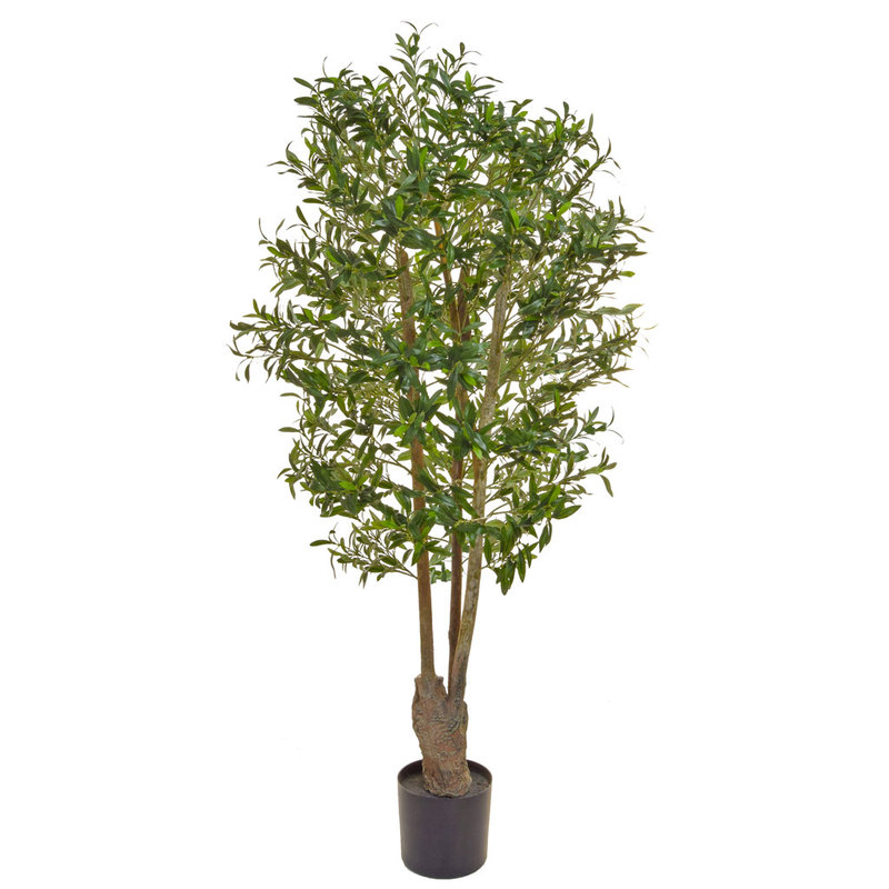 Artificial Olive Tree Green 160cm with Natural Tree Trunk/