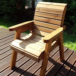 Golden Redwood Garden Chair