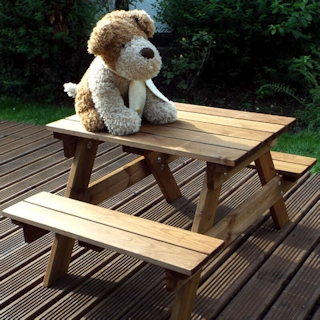 Golden Kids Wooden Picnic Table