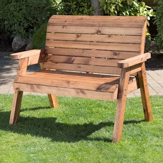 Traditional Two Seater Wooden Garden Bench