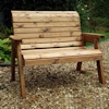 Traditional Two Seater Wooden Garden Bench/
