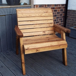 Extra Large Wooden Garden Chair