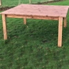 Medium Square Wooden Garden Table (4 Seater)/