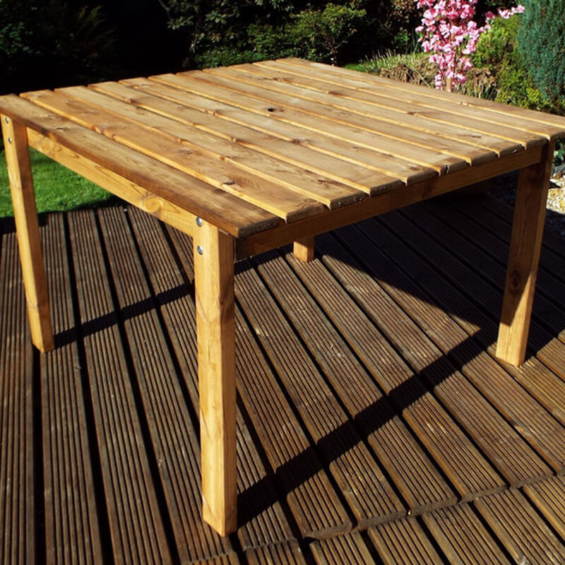 Large Square Wooden Garden Table (8 Seater)/