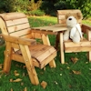 Kids Twin Wooden Garden Chair Set - Angled/