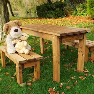 Kids Wooden Garden Table Set