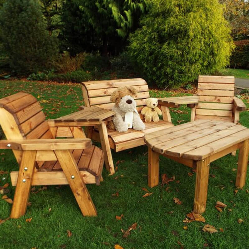 Kids Four Seater Wooden Outdoor Furniture Set/